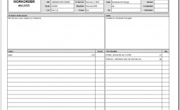009 Beautiful Excel Work Order Form Image  Forms Maintenance