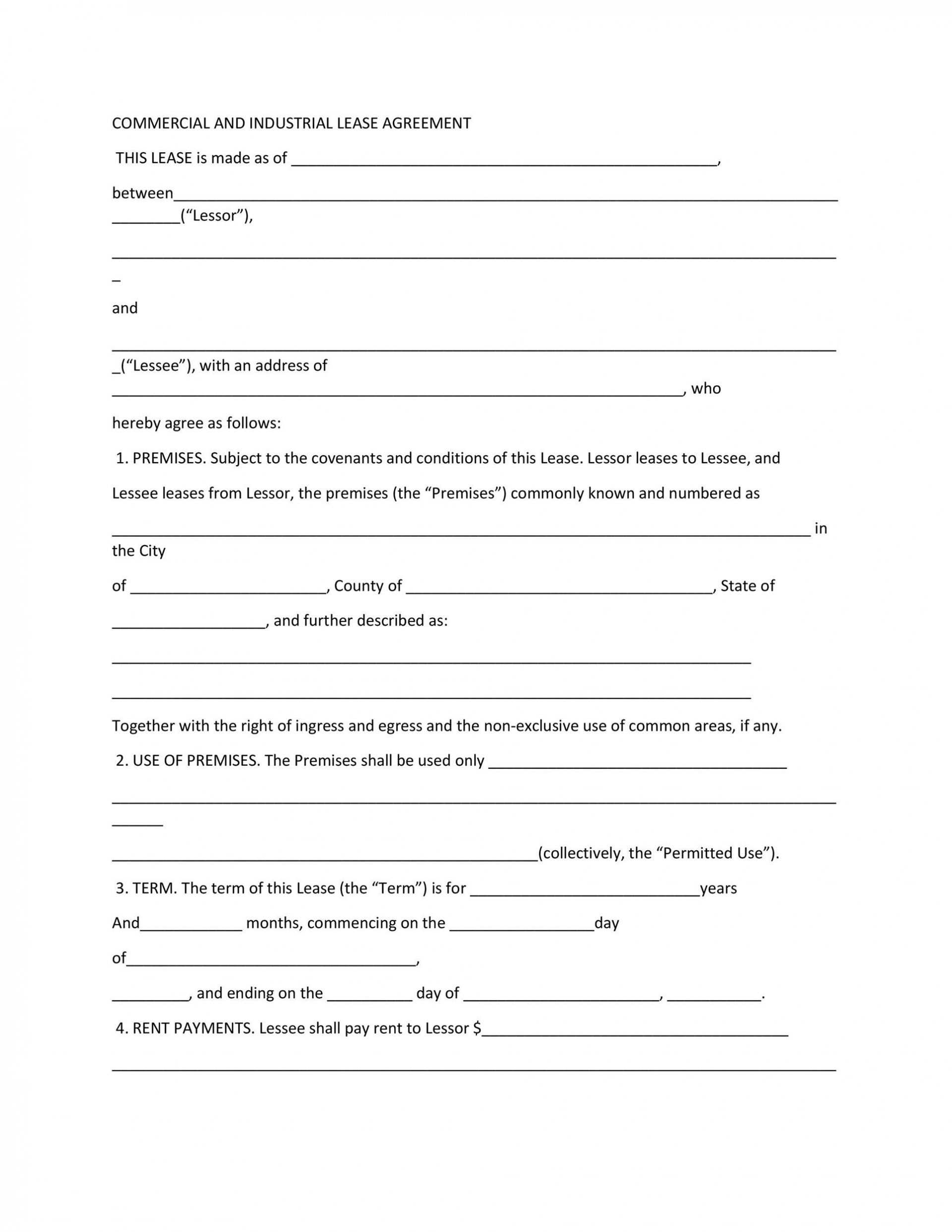009 Beautiful Free Commercial Lease Agreement Template Australia High Resolution  Queensland Download1920