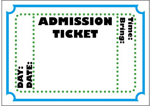 009 Beautiful Free Printable Concert Ticket Clipart Highest Clarity Full