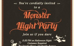 009 Beautiful Halloween Party Invite Template Highest Quality  Spooky Invitation Free Printable Birthday Download