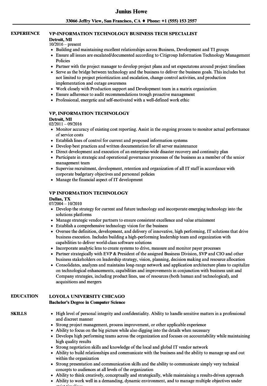 009 Beautiful Information Technology Resume Template Photo  Specialist Free BestFull