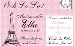 009 Beautiful Pari Birthday Invitation Template Free Picture