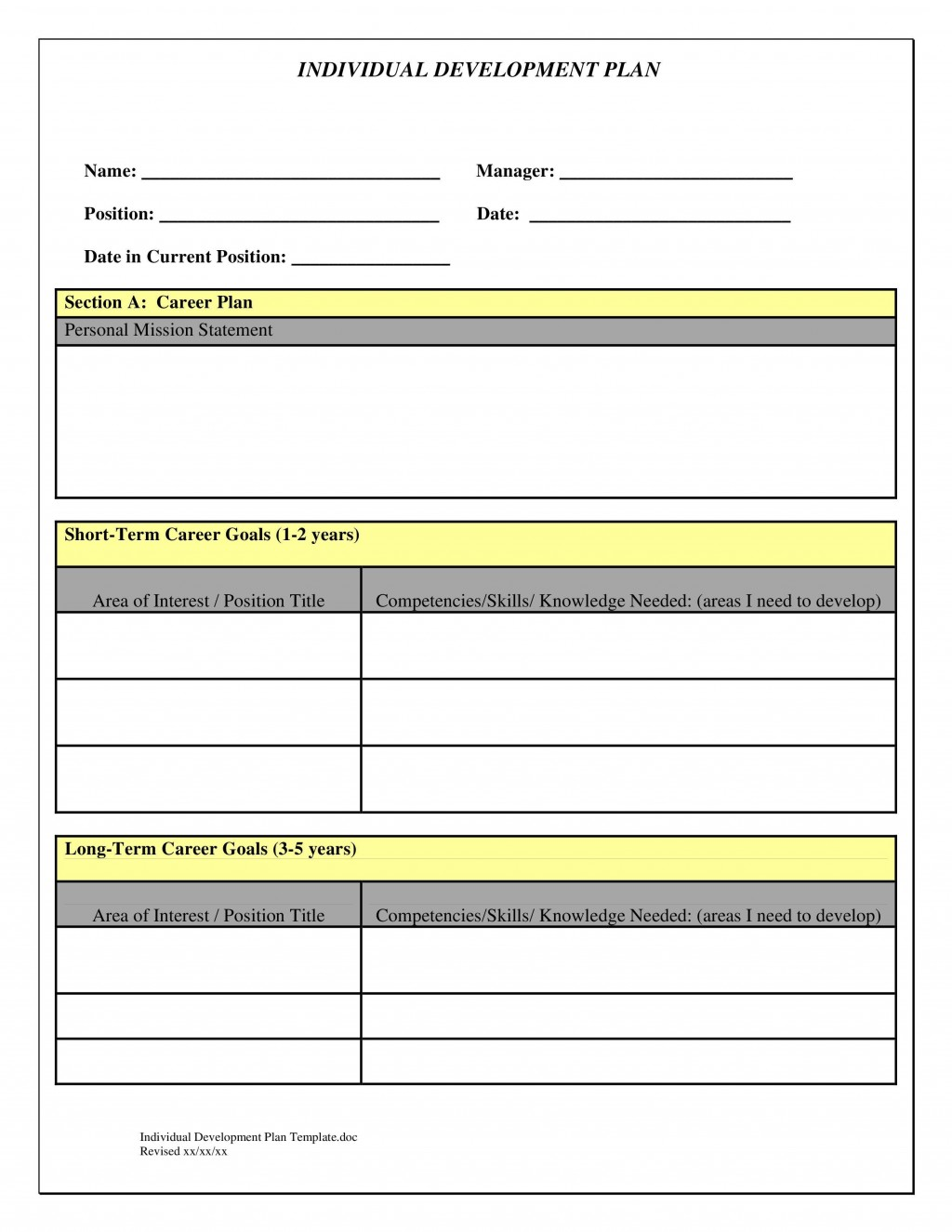 009 Beautiful Personal Development Plan Example Professional Doc Concept Large