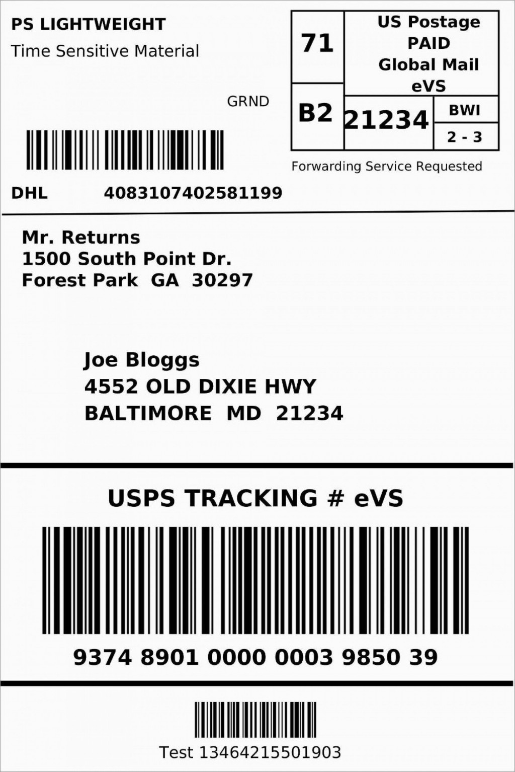 009 Beautiful Up Shipping Label Template Free Concept Large
