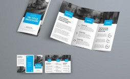 009 Best 3 Fold Brochure Template Sample  Templates For Free