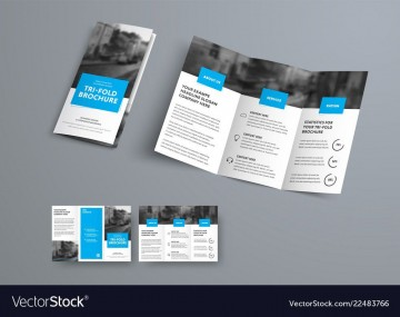 009 Best 3 Fold Brochure Template Sample  For Free360