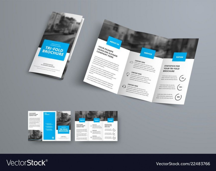 009 Best 3 Fold Brochure Template Sample  For Free868