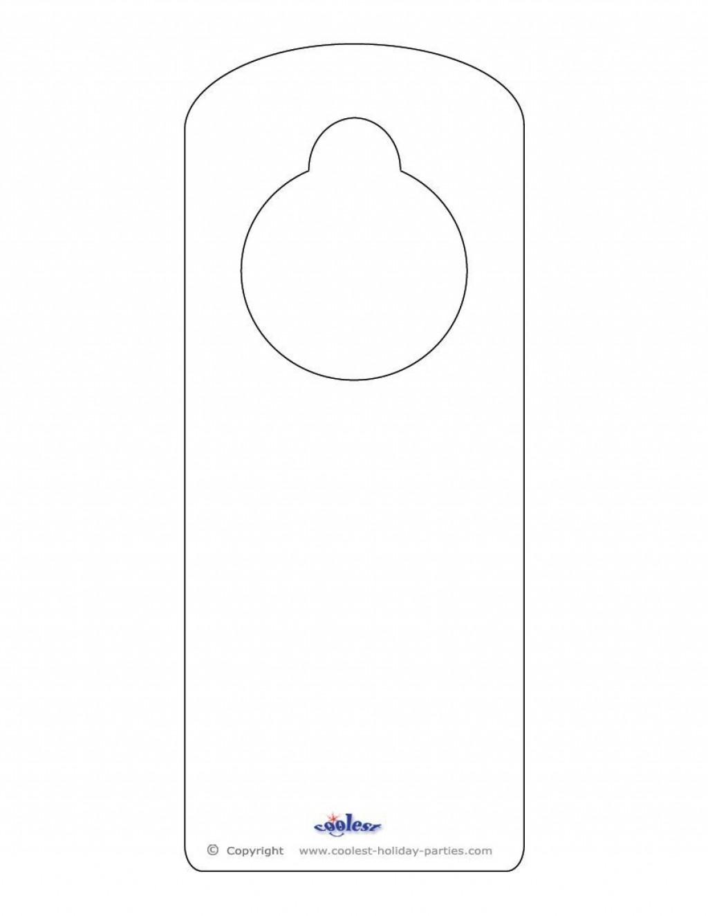 009 Best Blank Door Hanger Template Inspiration  Free Printable Microsoft WordLarge
