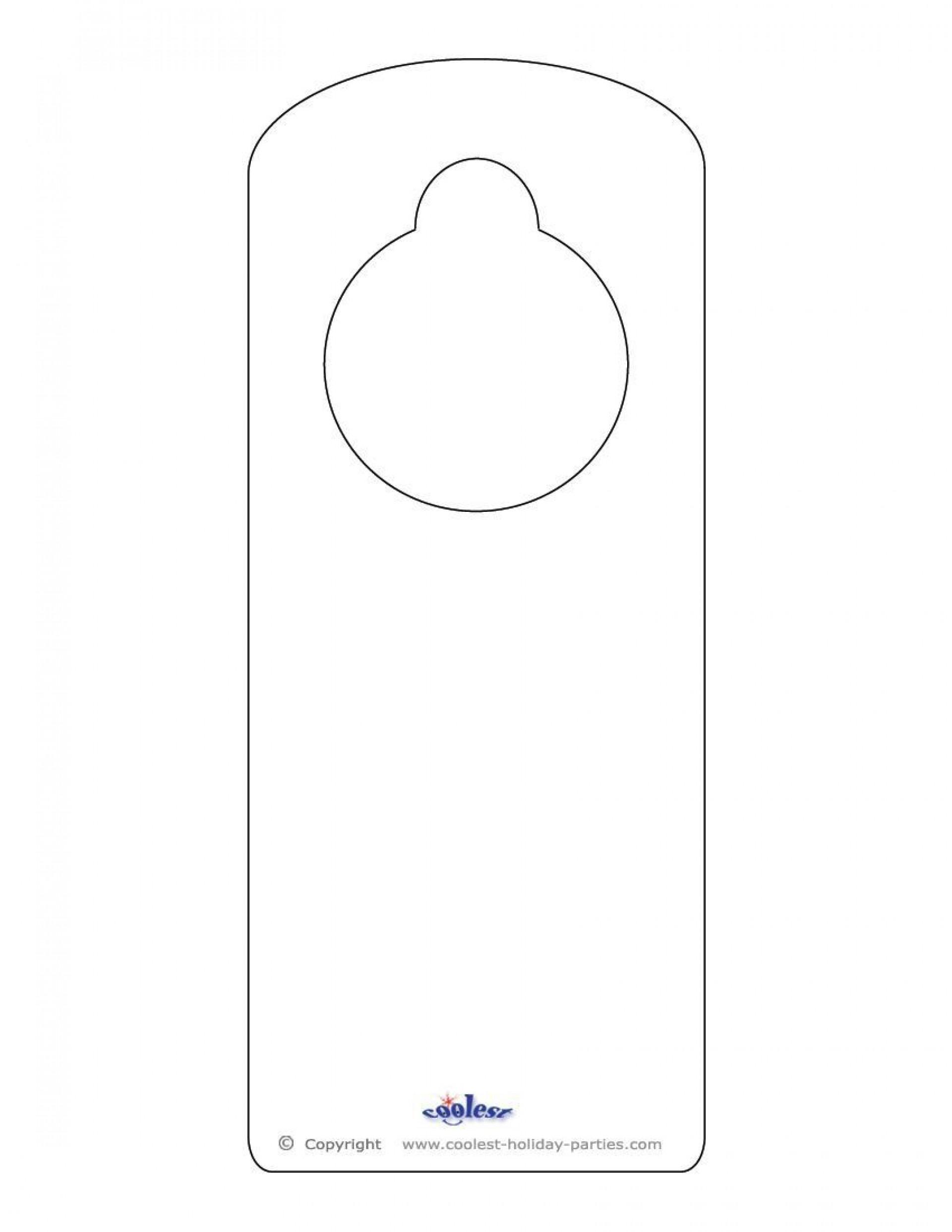 009 Best Blank Door Hanger Template Inspiration  Free Printable Microsoft Word1920