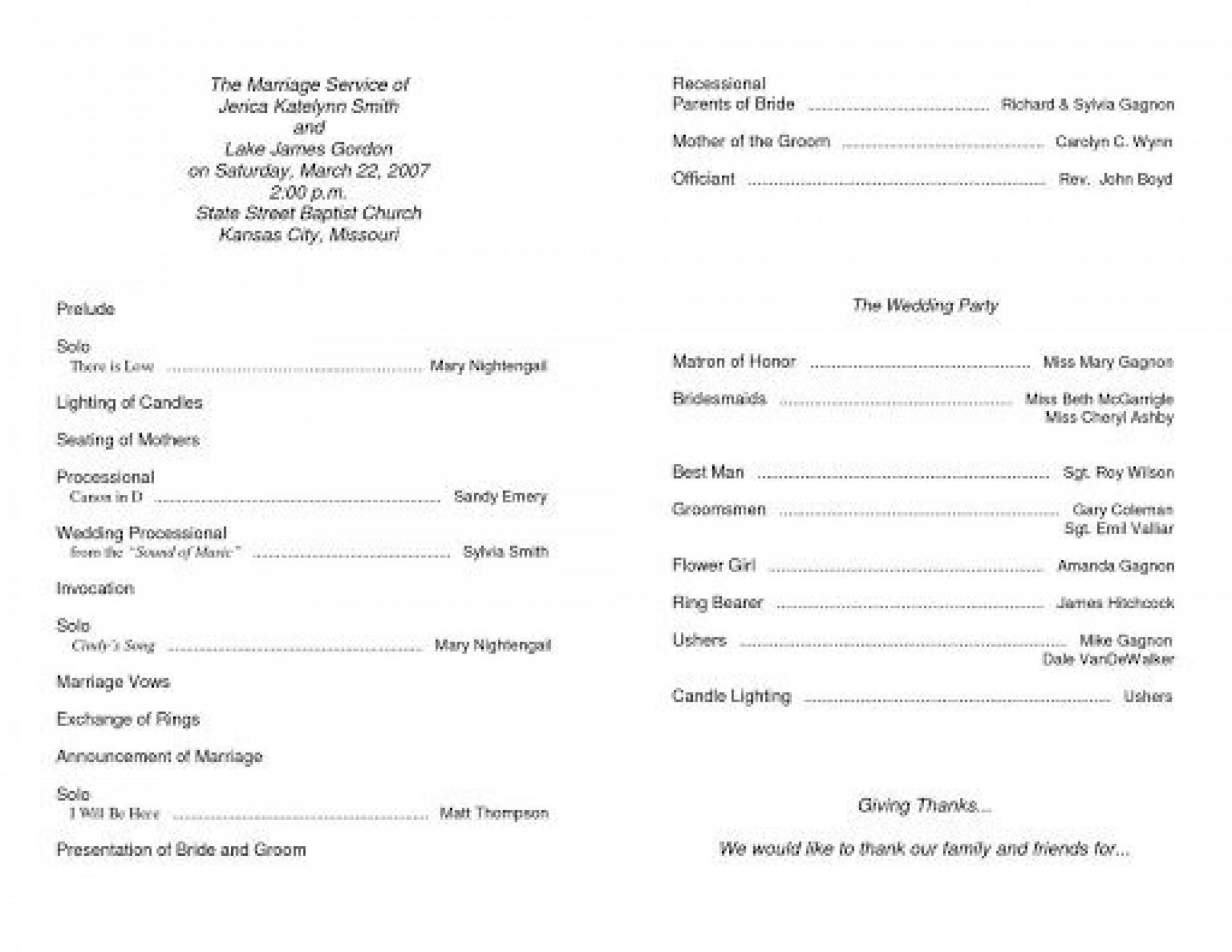 009 Best Free Church Program Template Word Design  Bulletin For1920