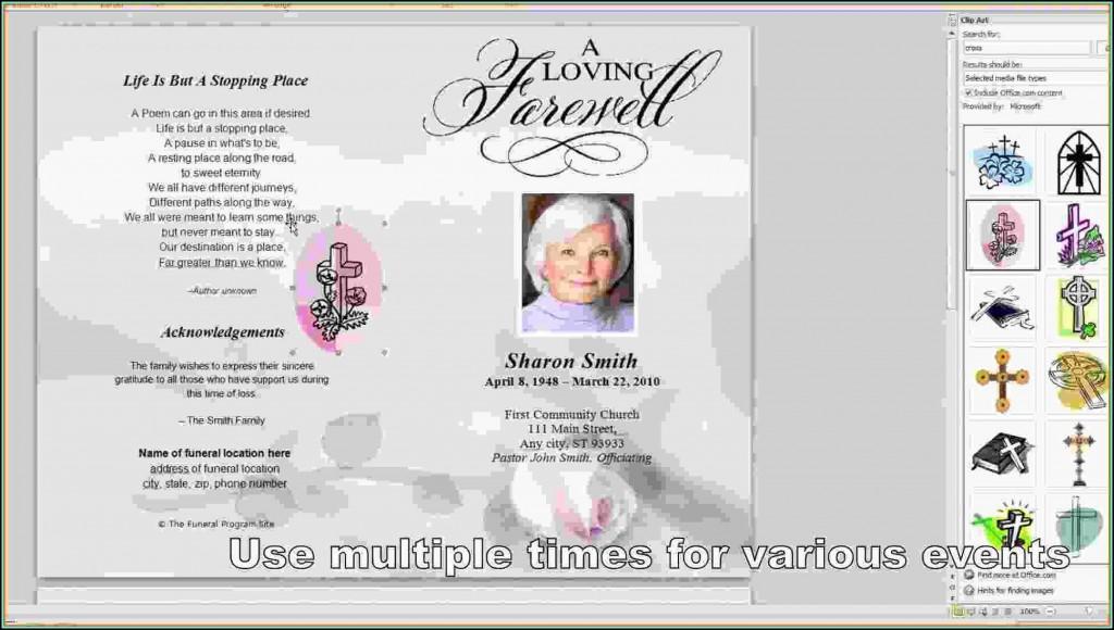009 Best Free Funeral Program Template Word Highest Quality  Microsoft 2010 Tri FoldLarge