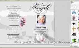 009 Best Free Funeral Program Template Word Highest Quality  Microsoft 2010 Tri Fold