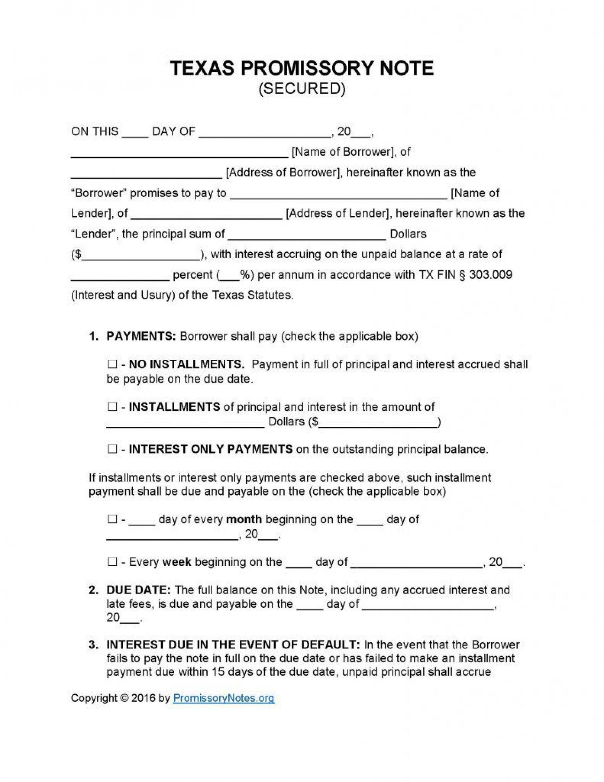 009 Best Free Promissory Note Template Word Sample  Microsoft Document1920
