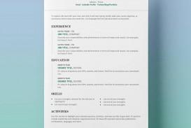 009 Best Free Simple Resume Template Microsoft Word Design