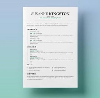 009 Best Free Simple Resume Template Microsoft Word Design 320