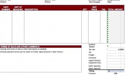 009 Best Free Tax Invoice Template Excel South Africa Sample