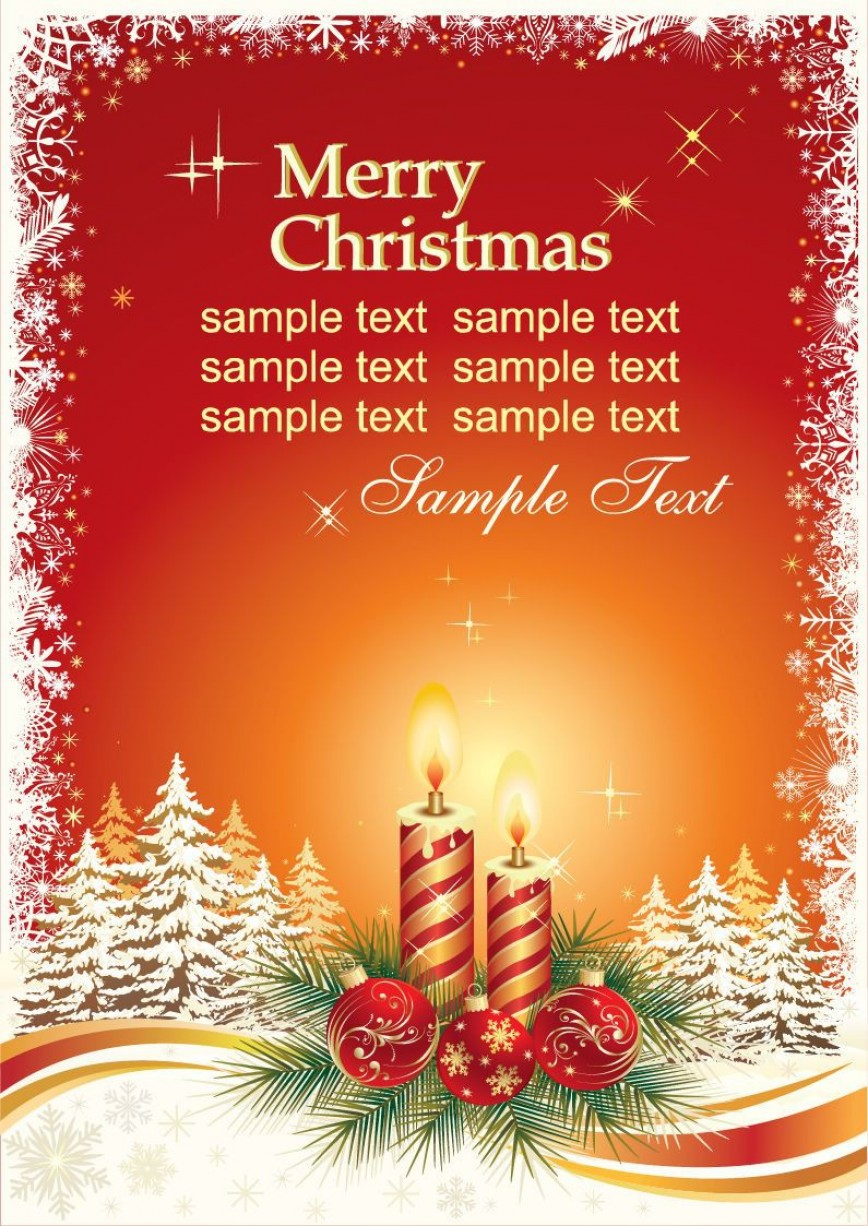 009 Best Holiday Card Template Free Picture  Christma Gift Word Recipe For