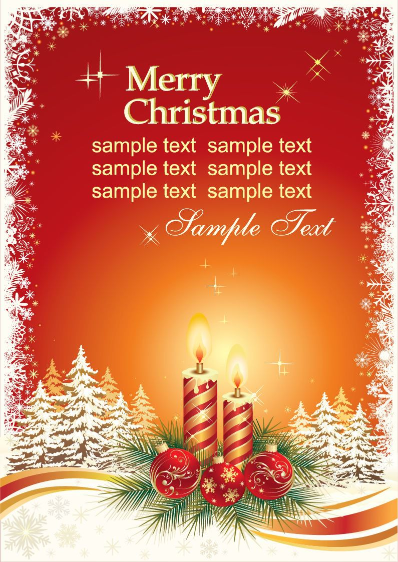 009 Best Holiday Card Template Free Picture  Christma Word Recipe Editable MicrosoftFull