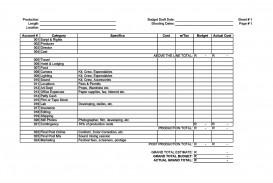 009 Best Line Item Budget Template Film Photo