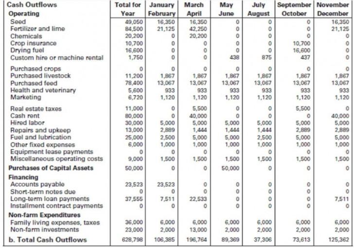 009 Best Monthly Cash Flow Template Excel Uk Idea 728