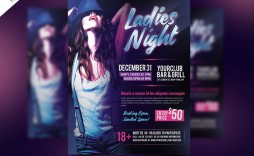 009 Best Party Flyer Template Free Photoshop Example  Birthday Psd Masquerade -