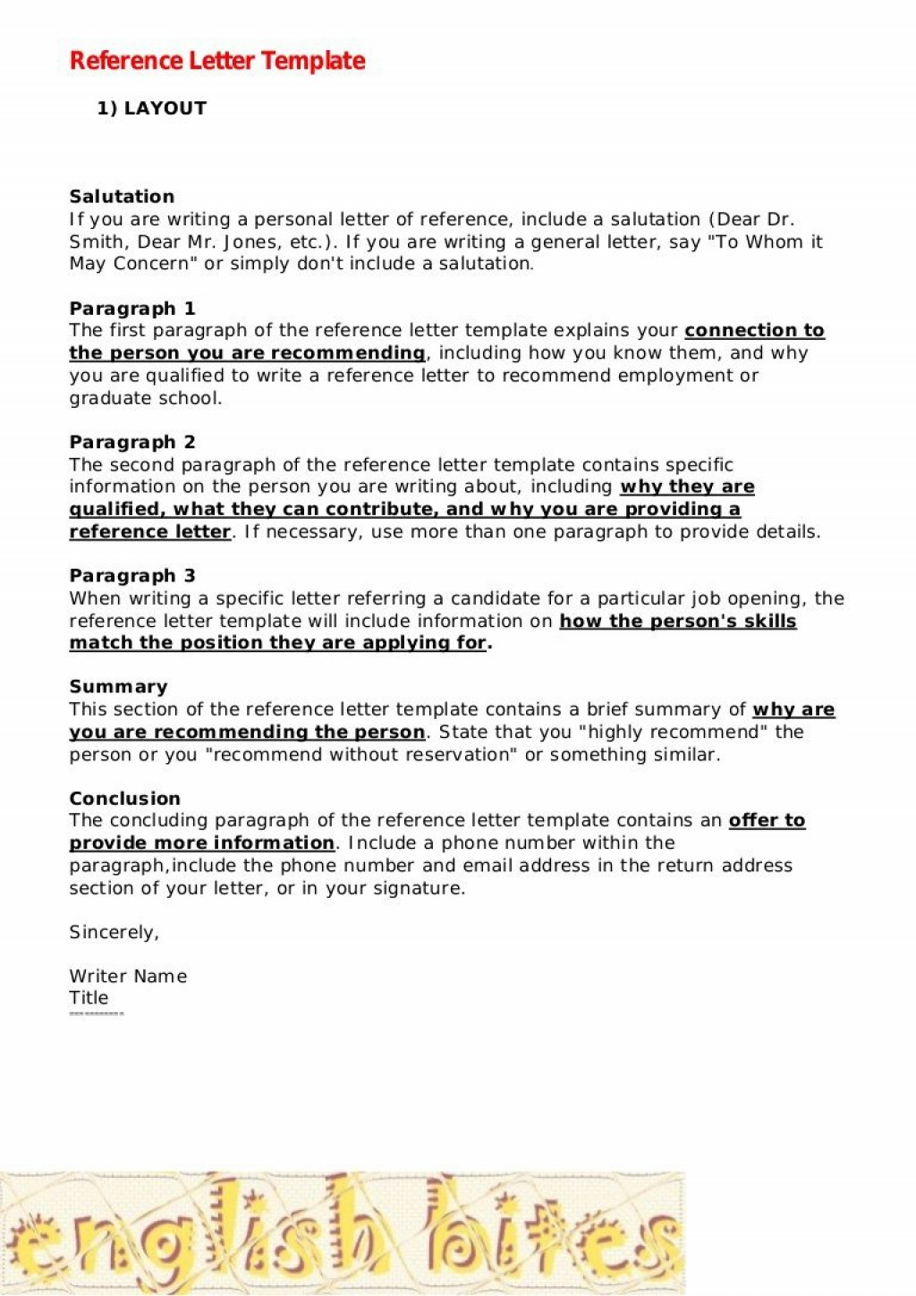 009 Best Personal Reference Letter Template High Resolution  Character Word For Rental ApplicationLarge