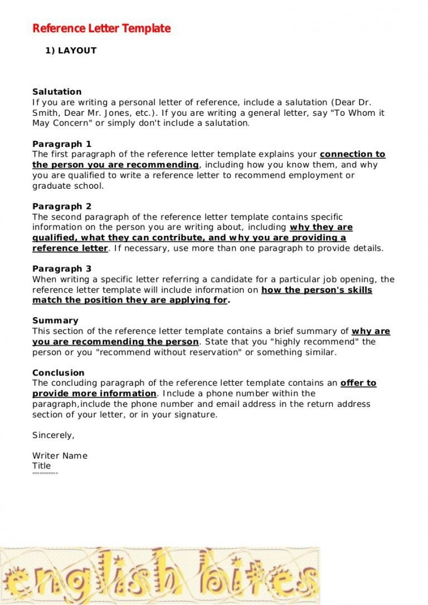 009 Best Personal Reference Letter Template High Resolution  For Real Estate Example Job