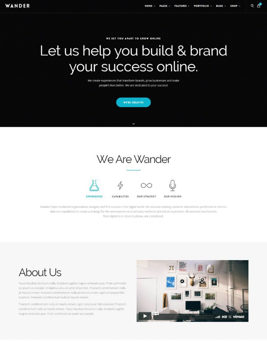 009 Best Single Page Website Template Design  Templates Free Download One HtmlLarge