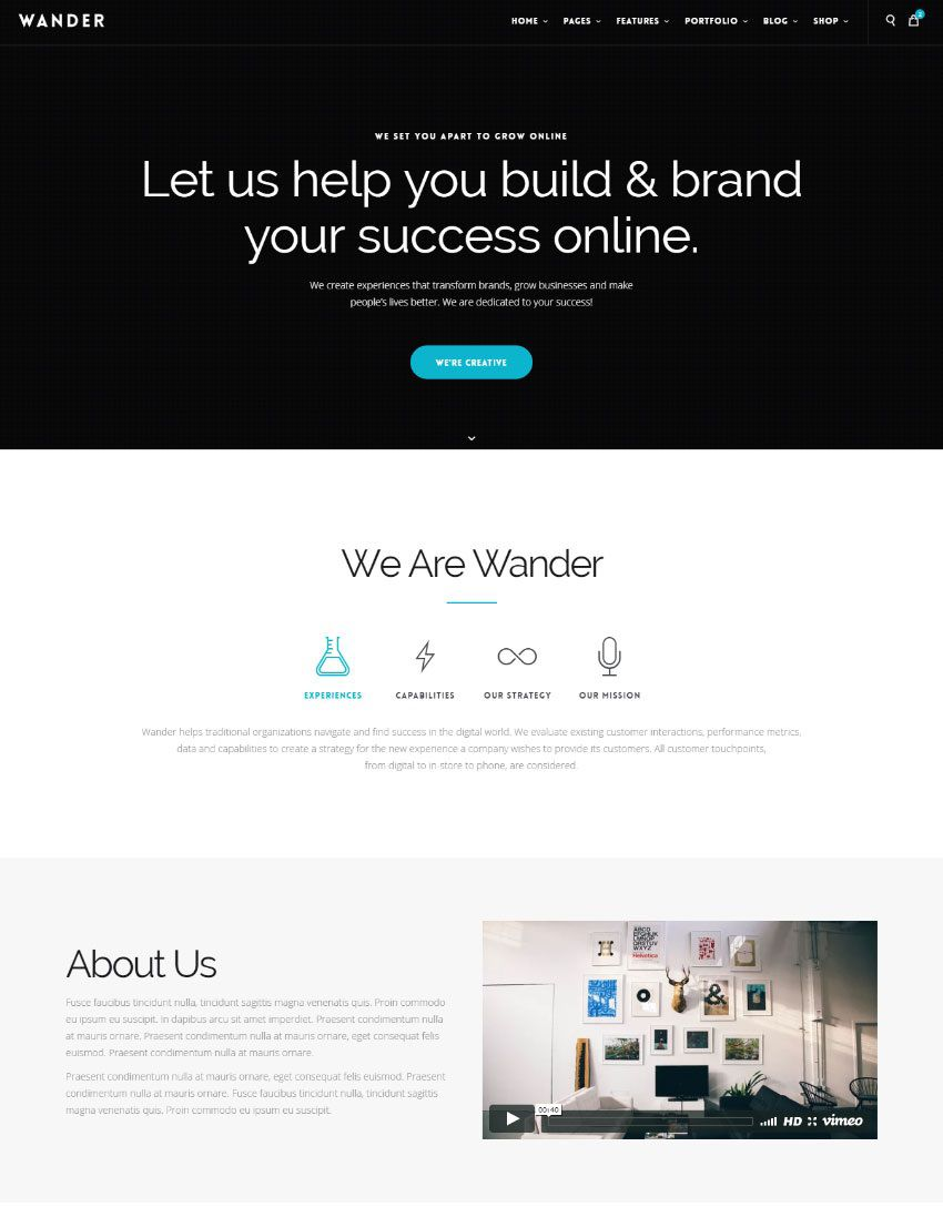 009 Best Single Page Website Template Design  Templates Free Download One HtmlFull