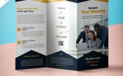 009 Best Three Fold Brochure Template Psd Highest Clarity  A4 3 Free