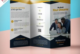 009 Best Three Fold Brochure Template Psd Highest Clarity  Free 3 A4 Tri Download