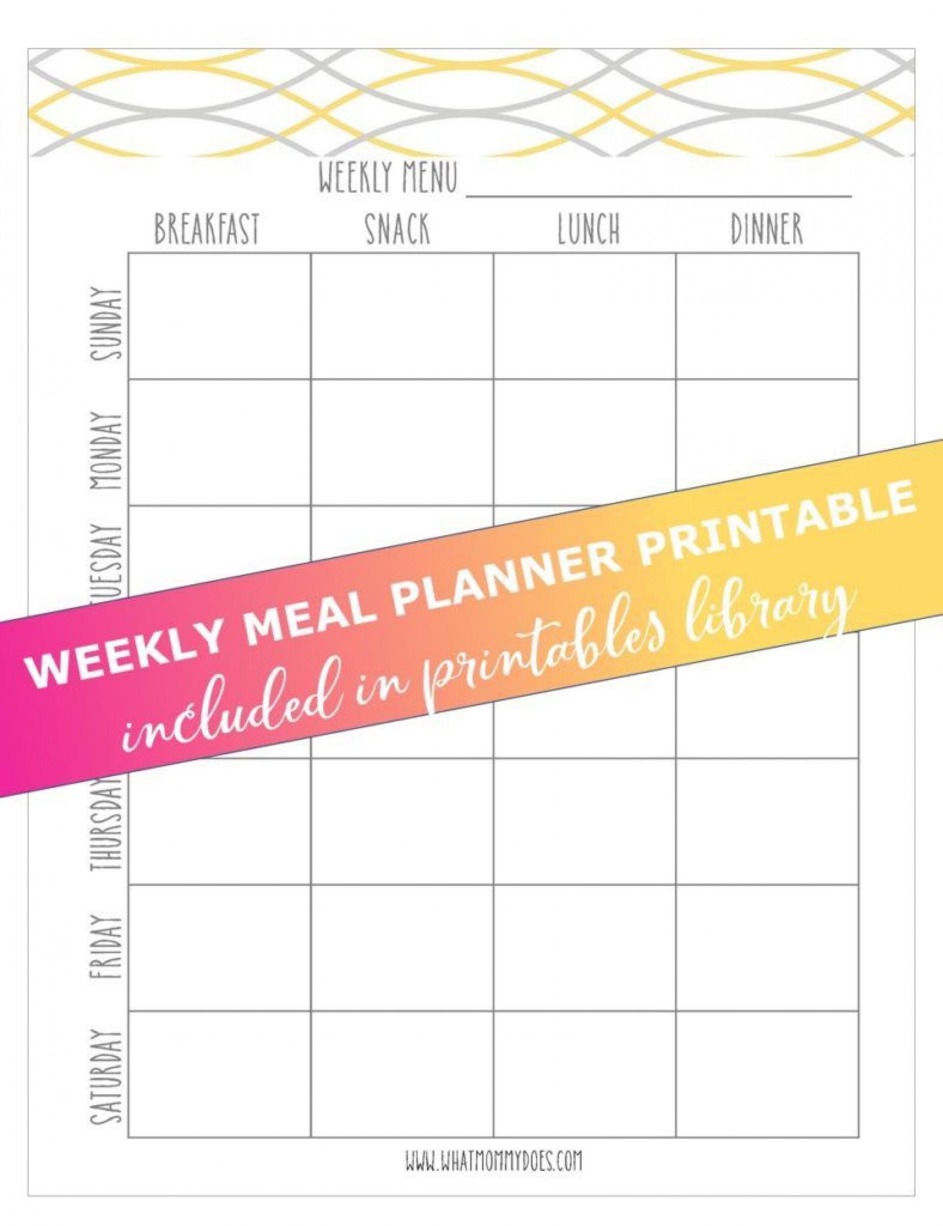 009 Best Weekly Eating Plan Template High Def  Food Planner Excel Meal Download1920