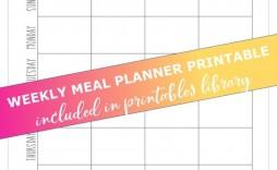 009 Best Weekly Eating Plan Template High Def  Food Planner Excel Meal Download