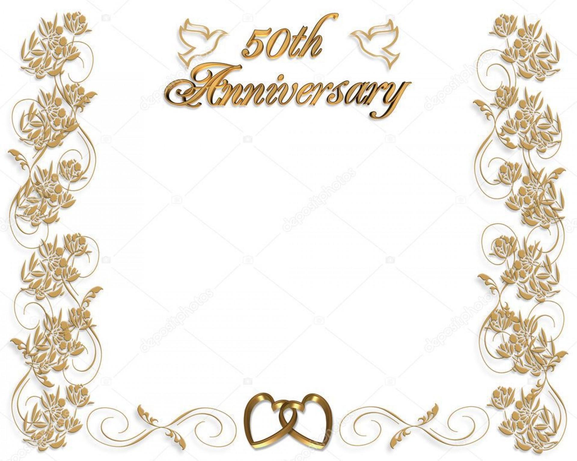 009 Breathtaking 50th Anniversary Invitation Design Highest Clarity  Designs Wedding Template Microsoft Word Surprise Party Wording Card Idea1920