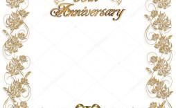009 Breathtaking 50th Anniversary Invitation Design Highest Clarity  Designs Wedding Template Microsoft Word Surprise Party Wording Card Idea