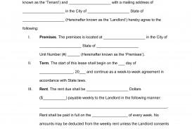 009 Breathtaking Basic Rental Agreement Template Inspiration  Simple Word Tenancy Free