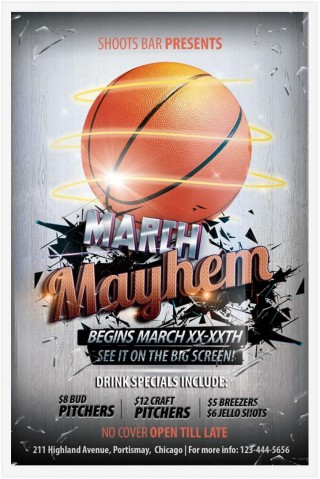 009 Breathtaking Free Basketball Flyer Template High Resolution  Game 3 On Tournament Word320