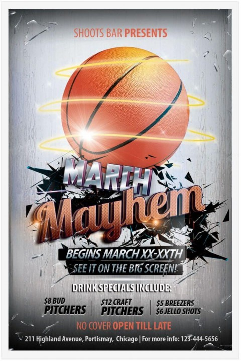 009 Breathtaking Free Basketball Flyer Template High Resolution  Game 3 On Tournament Word480