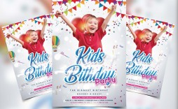 009 Breathtaking Free Birthday Flyer Template Psd Example  Foam Party - Neon Glow Download Pool