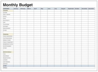 009 Breathtaking Free Printable Home Budget Template Inspiration  Sheet Form320
