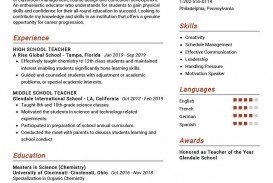 009 Breathtaking Good Resume For Teaching Job High Resolution  Sample Teacher Fresher In India