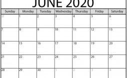 009 Breathtaking June 2020 Monthly Calendar Template Inspiration