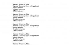 009 Breathtaking List Of Work Reference Template Design  Job Format