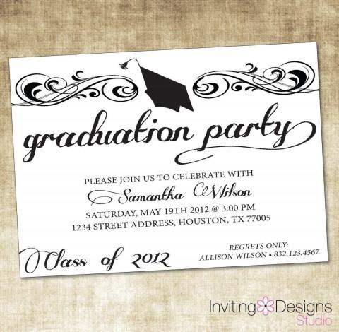009 Breathtaking Microsoft Word Graduation Invitation Template Design  Party480
