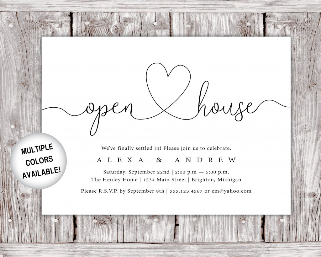 009 Breathtaking Open House Invite Template Inspiration  Templates Party InvitationLarge