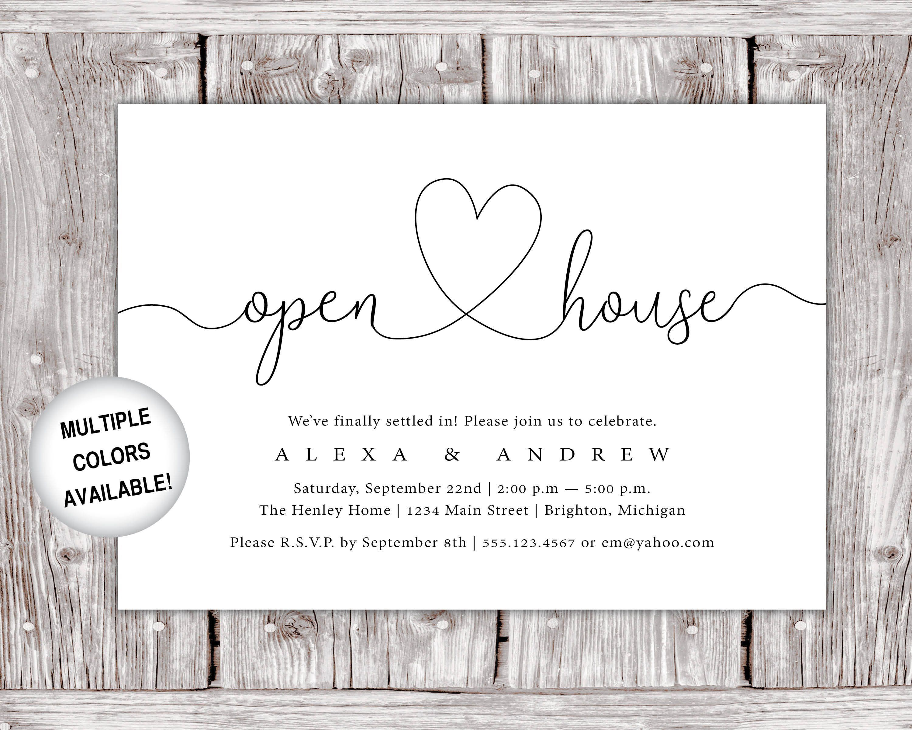009 Breathtaking Open House Invite Template Inspiration  Templates Party InvitationFull