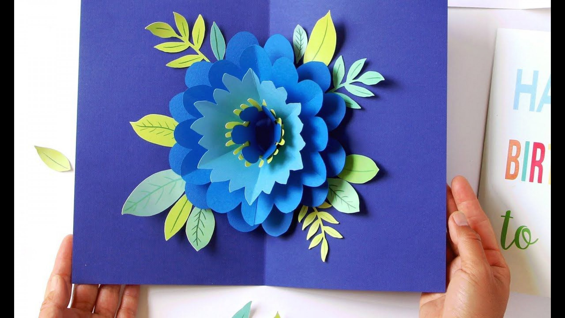 009 Breathtaking Pop Up Card Pattern Free High Definition  Printable Christma Mother' Day Kirigami1920