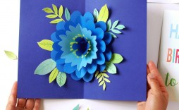 009 Breathtaking Pop Up Card Pattern Free High Definition  Printable Christma Mother' Day Kirigami
