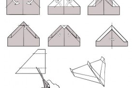 009 Breathtaking Printable Simple Paper Airplane Instruction High Resolution  Plane