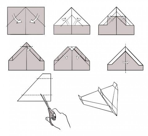 009 Breathtaking Printable Simple Paper Airplane Instruction High Resolution  Plane480